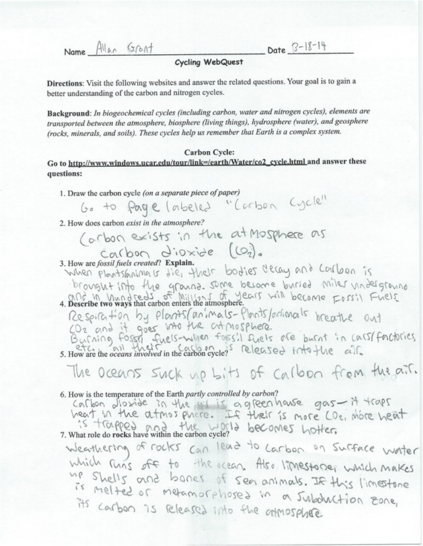 Worksheets Marine Biology Worksheets unit 6 marine ecology allan grant biology